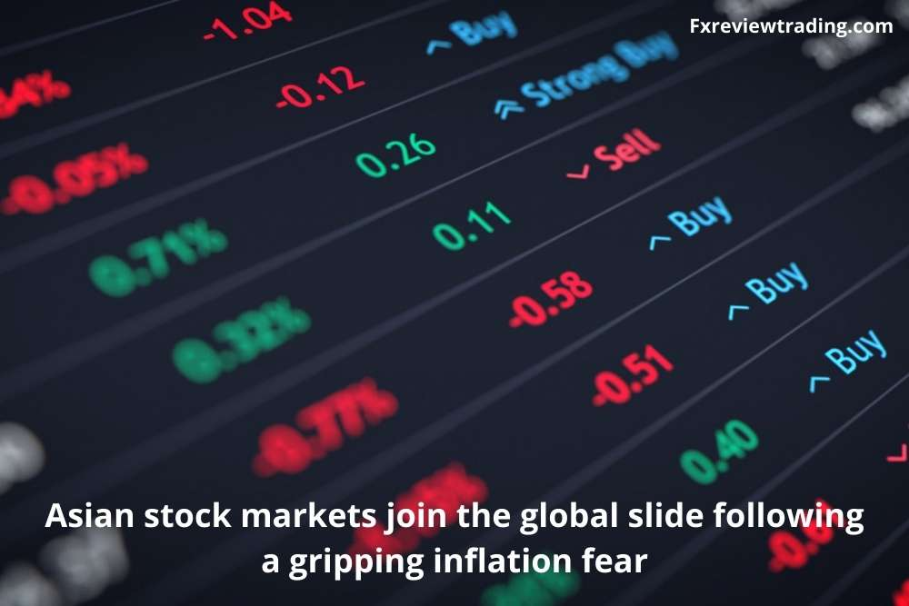 Asian stock markets join the global slide following a gripping inflation fear